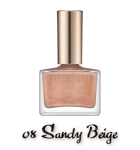 LUNASOL 2020 Autumn Collection New Chic Nail Polish 08 Sandy Beige