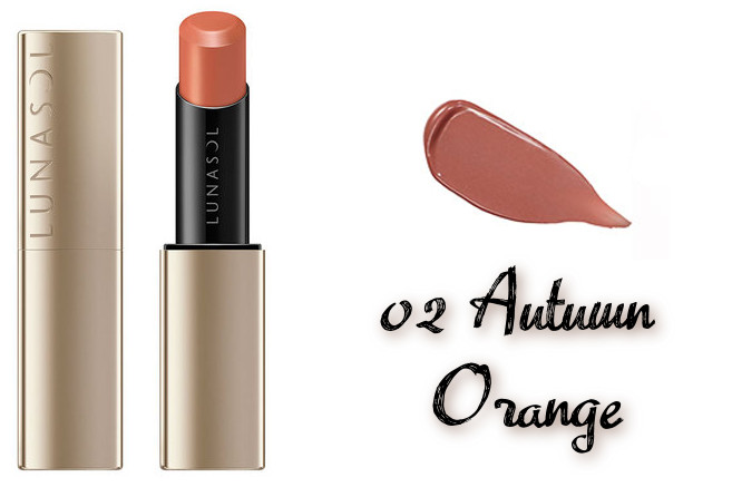 LUNASOL 2020 Autumn Collection New Chic Plump Mellow Lips 02 Autumn Orange
