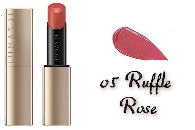 LUNASOL 2020 Autumn Collection New Chic Plump Mellow Lips 05 Ruffle Rose
