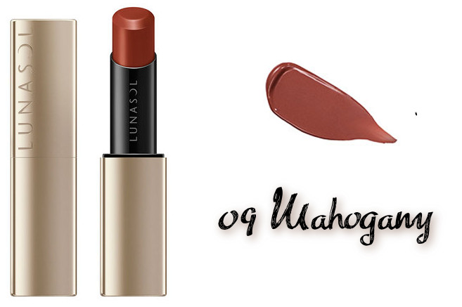 LUNASOL 2020 Autumn Collection New Chic Plump Mellow Lips 09 Mahogany