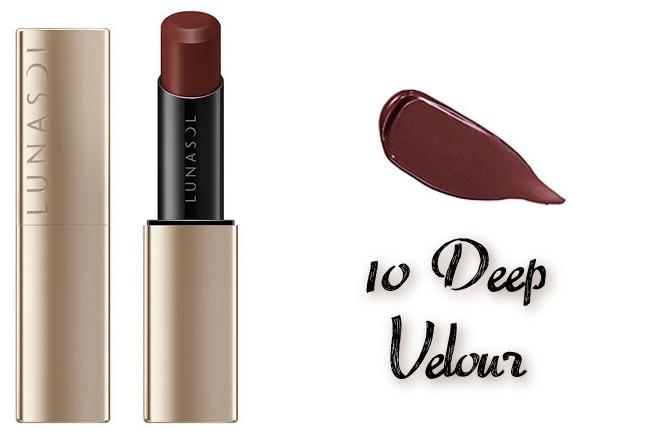LUNASOL 2020 Autumn Collection New Chic Plump Mellow Lips 10 Deep Velour