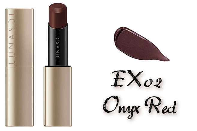 LUNASOL 2020 Autumn Collection New Chic Plump Mellow Lips EX02 Onyx Red