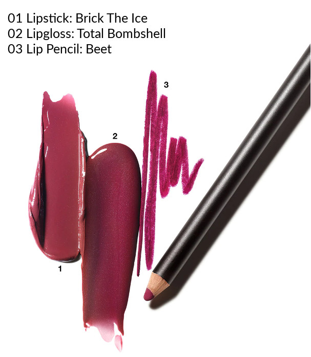 MAC 2020 Holiday Collection Frosted Firework Firewerk It Lip Kit Berry