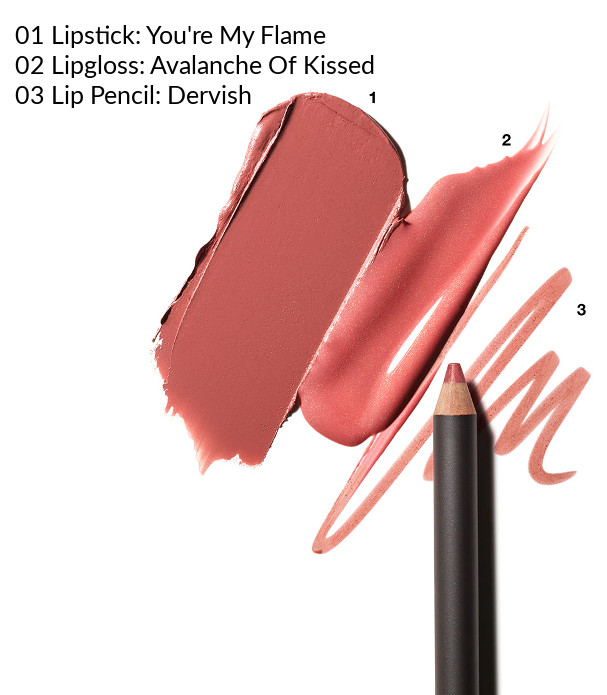 MAC 2020 Holiday Collection Frosted Firework Firewerk It Lip Kit Blush