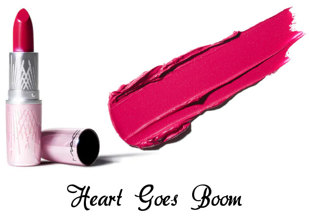 MAC 2020 Holiday Collection Frosted Firework Frosted Firework Lipstick Heart Goes Boom
