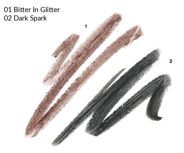MAC 2020 Holiday Collection Frosted Firework Frosted Firework Powerpoint Eye Pencil Bitter In Glitter, Dark Spark