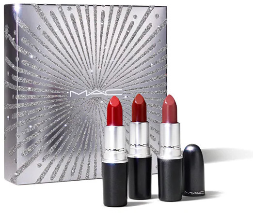 MAC 2020 Holiday Collection Frosted Firework Sparkler Starter Kit Lipsticks