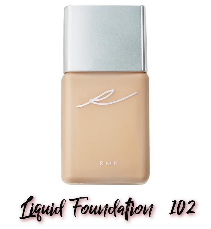 RMK x Erica Sakurazawa Clolor Closet Winter Limited Edition 2020 Liquid Foundation 102
