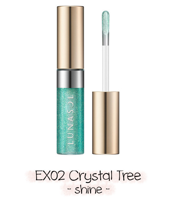 LUNASOL 2020 Winter Collection Merging Addict Holiday Lip Kit B EX02 Crystal Tree