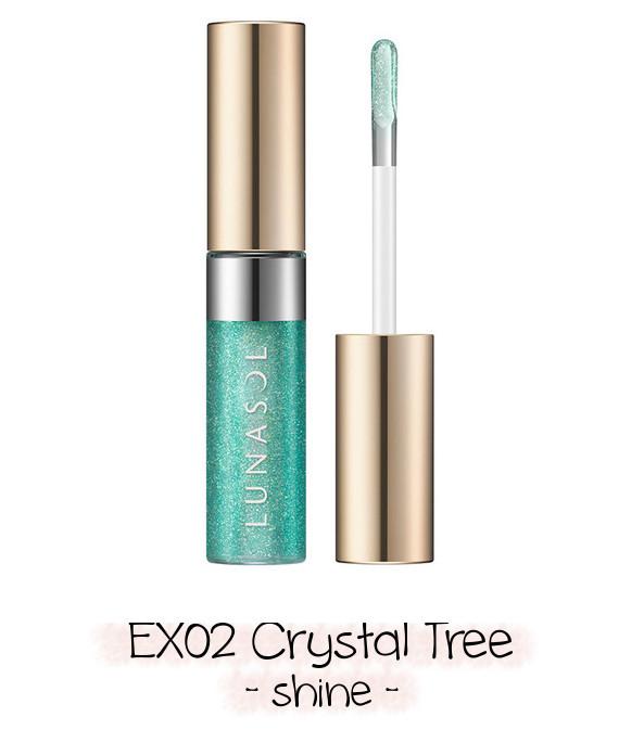 LUNASOL 2020 Winter Collection Merging Addict Holiday Lip Kit B EX02 Crystal Tree