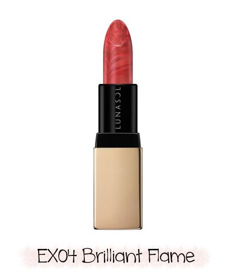 LUNASOL 2020 Winter Collection Merging Addict Merging Color Lip Blush EX04 Brilliant Flame