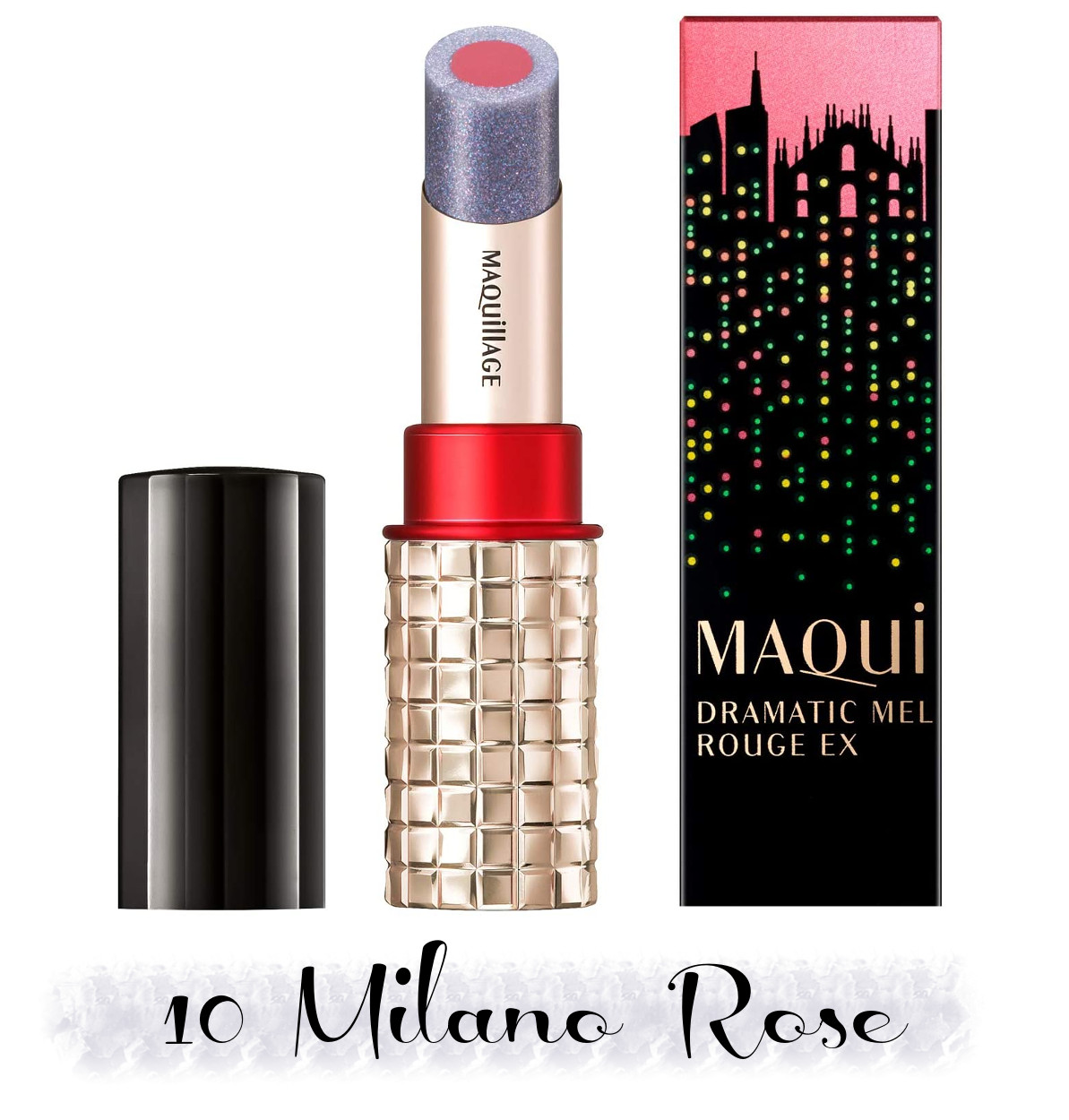 MAQuillAGE 2020 Holiday Collection Aurora Illumination Colors Dramatic Rouge EX 10 Milano Rose