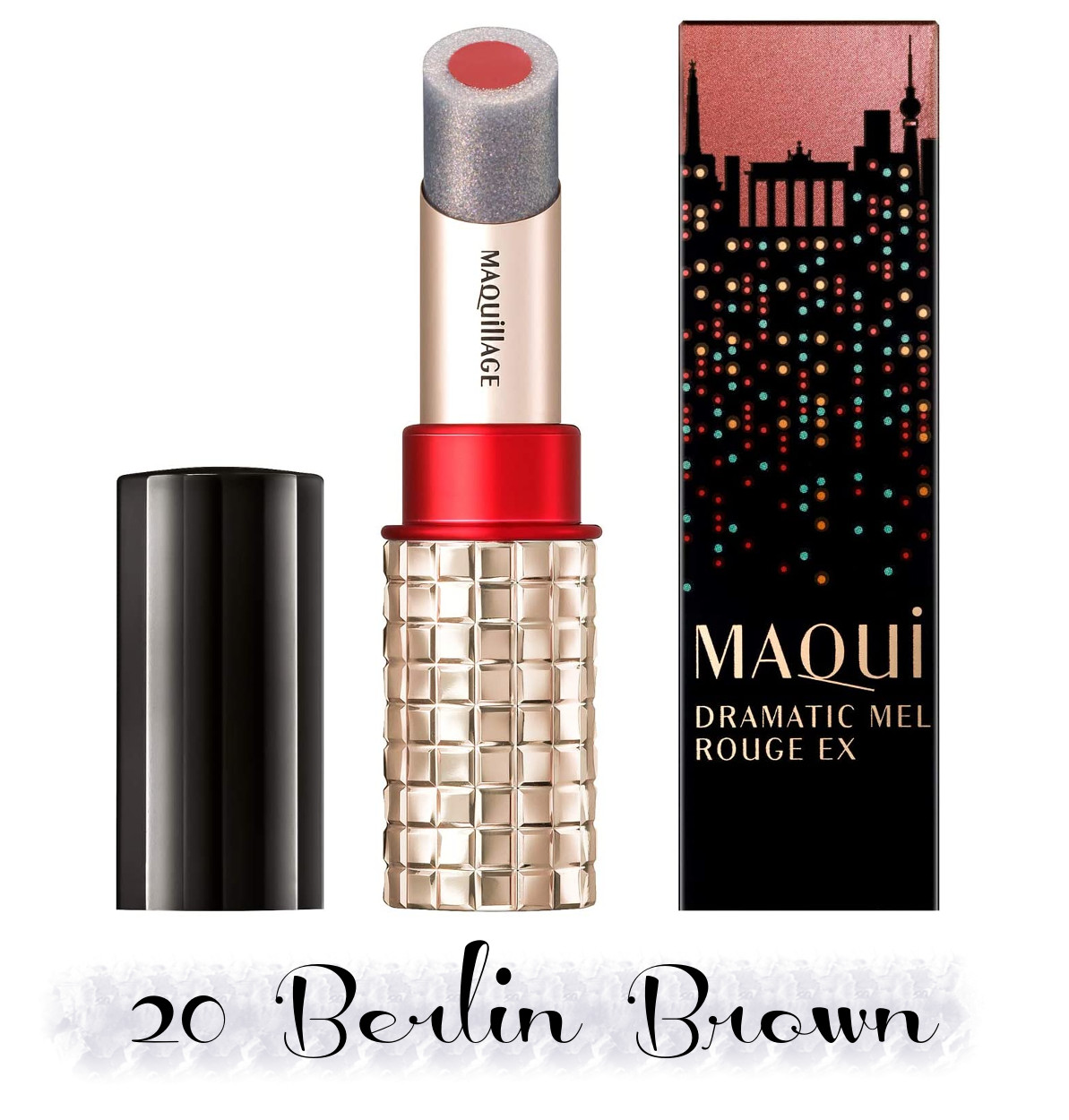 MAQuillAGE 2020 Holiday Collection Aurora Illumination Colors Dramatic Rouge EX 20 Berlin Brown