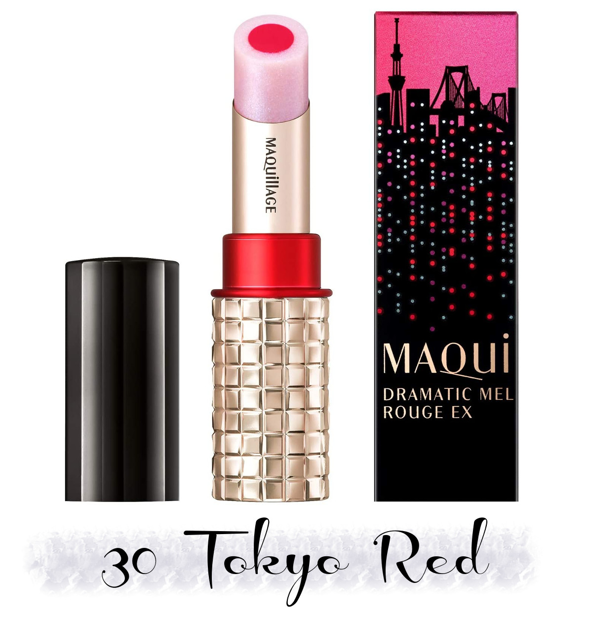 MAQuillAGE 2020 Holiday Collection Aurora Illumination Colors Dramatic Rouge EX 30 Tokyo Red