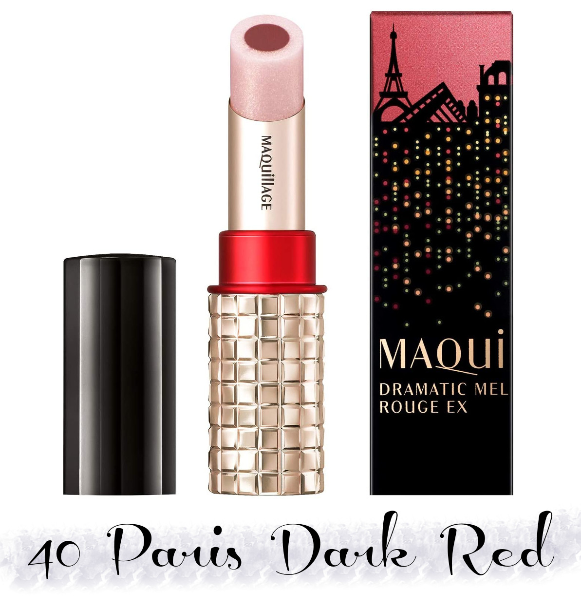 MAQuillAGE 2020 Holiday Collection Aurora Illumination Colors Dramatic Rouge EX 40 Paris Dark Red