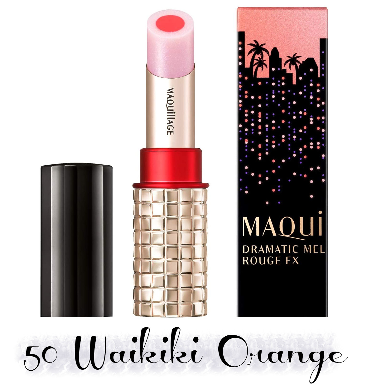 MAQuillAGE 2020 Holiday Collection Aurora Illumination Colors Dramatic Rouge EX 50 Waikiki Orange