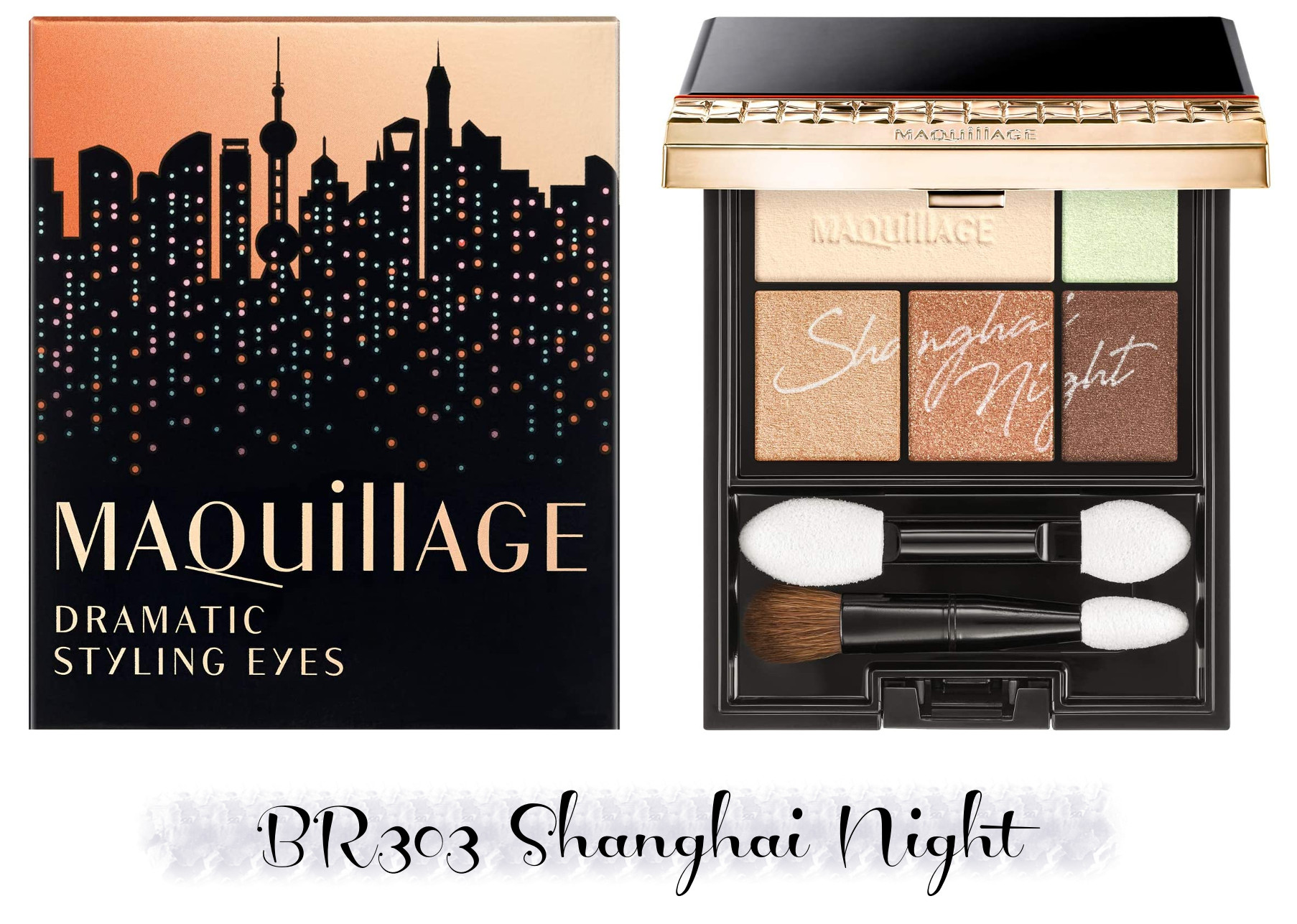 MAQuillAGE 2020 Holiday Collection Aurora Illumination Colors Dramatic Styling Eyes BR303 Shanghai Night