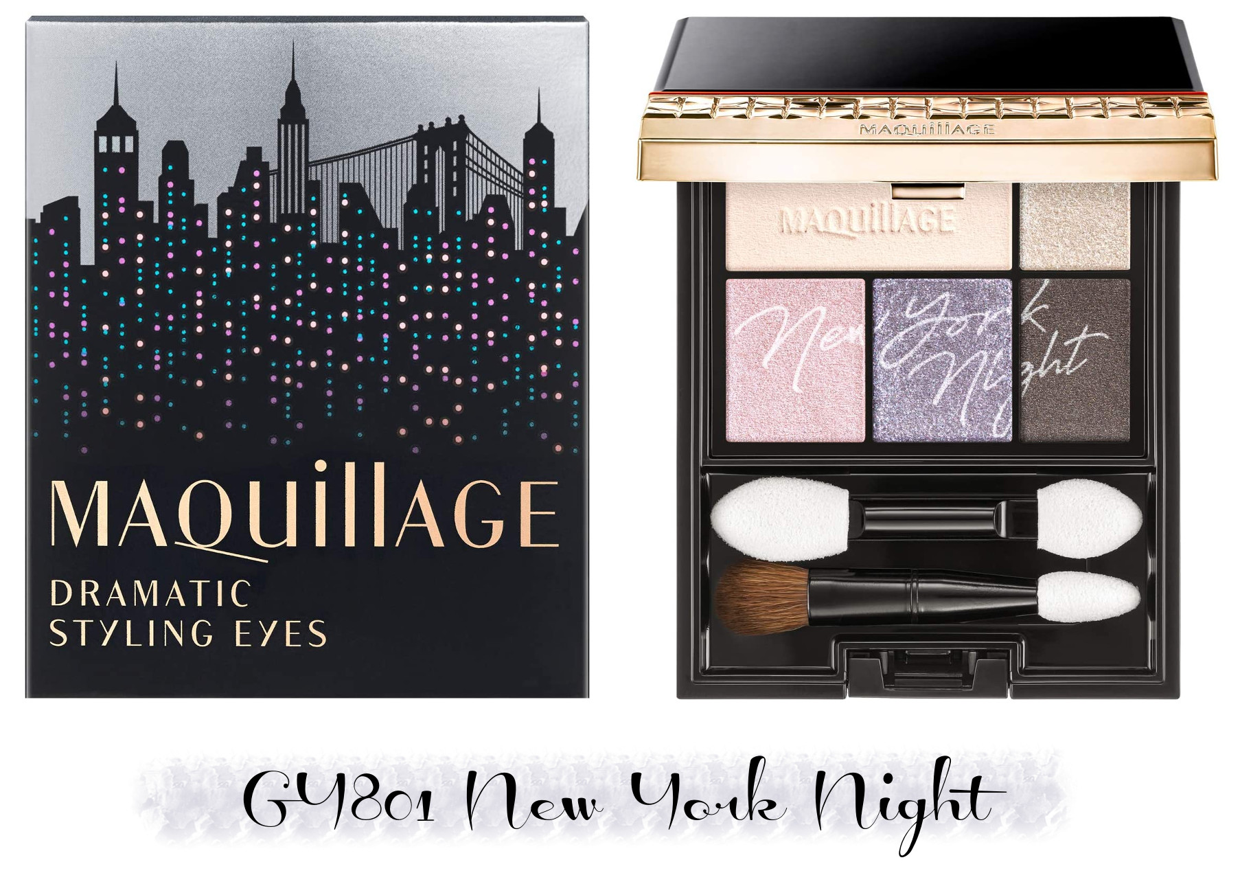 MAQuillAGE 2020 Holiday Collection Aurora Illumination Colors Dramatic Styling Eyes GY801 New York Night