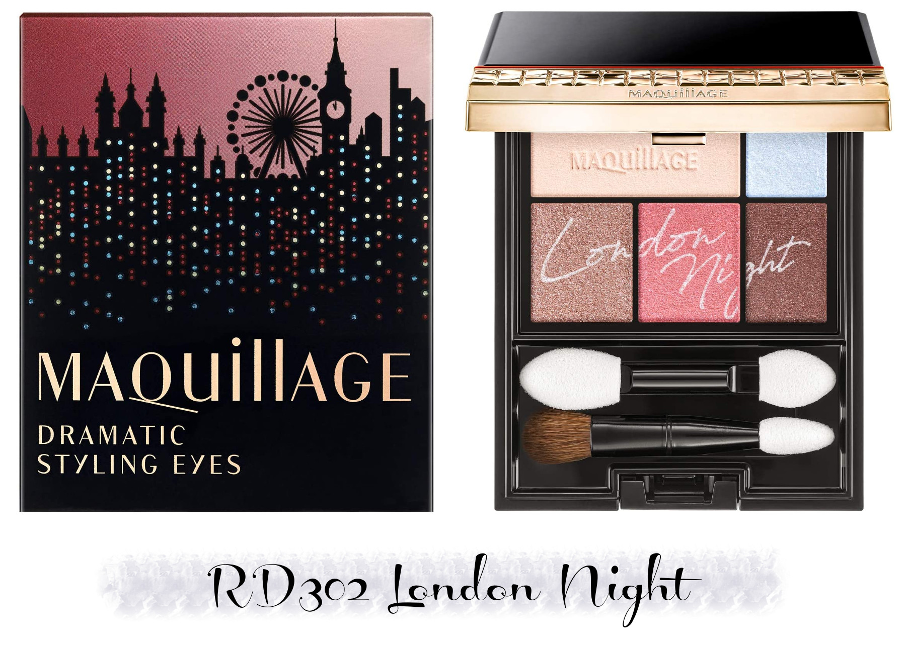 MAQuillAGE 2020 Holiday Collection Aurora Illumination Colors Dramatic Styling Eyes RD302 London Night