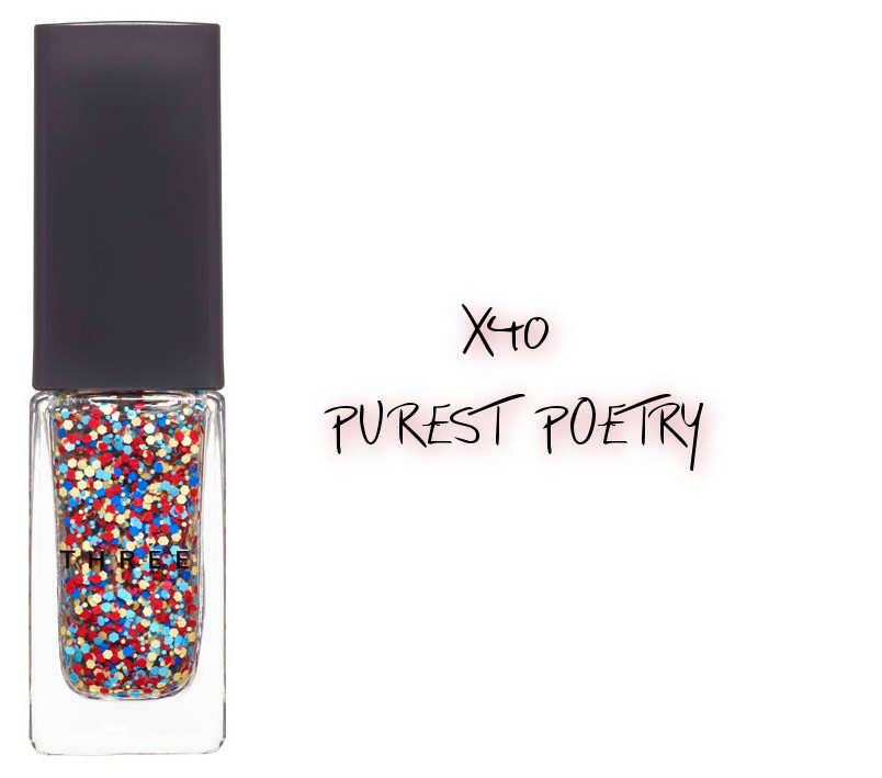 THREE 2020 Holiday Makeup Collection Metallic Muse Nail Polish X40 Purest Poetry