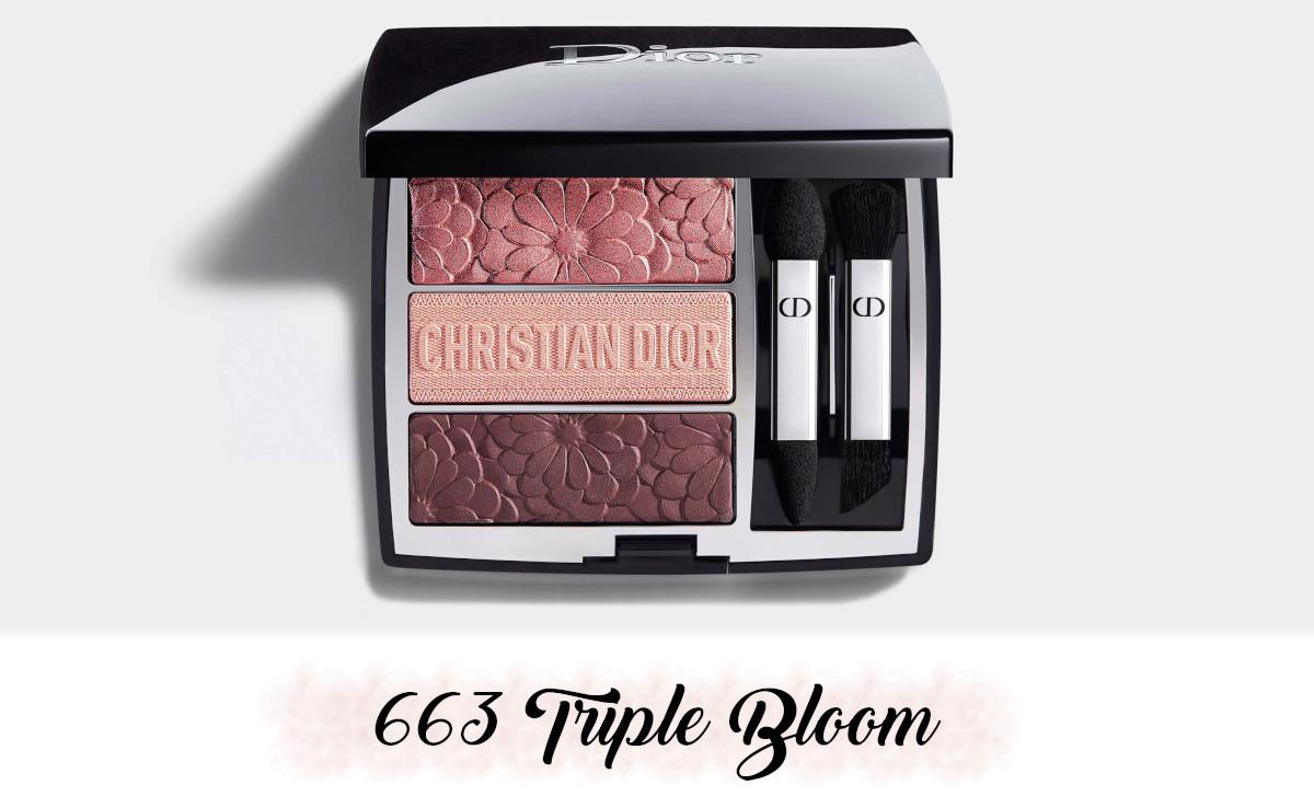 Dior Spring Collection 2021 Pure Glow Trio Brick Palette 663 Triple Bloom