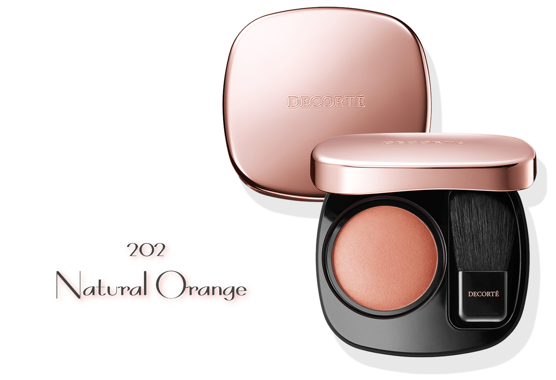 DECORTE 2021 Spring Collection Sway Light Powder Blush 202 Natural Orange