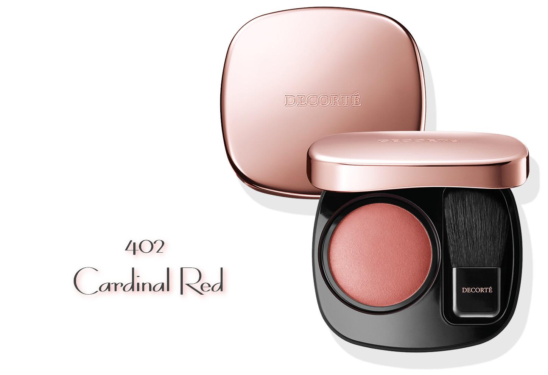 DECORTE 2021 Spring Collection Sway Light Powder Blush 402 Cardinal Red
