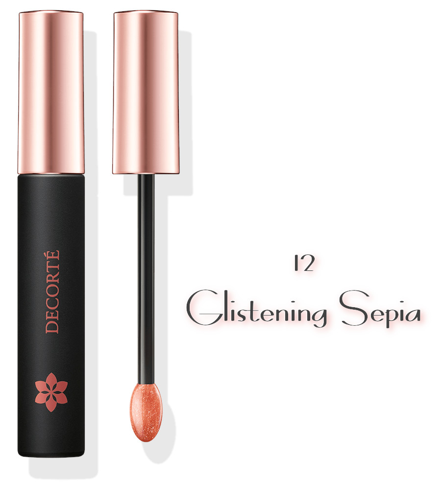 DECORTE 2021 Spring Collection Sway Light Tint Lip Gloss 12 Glistening Sepia