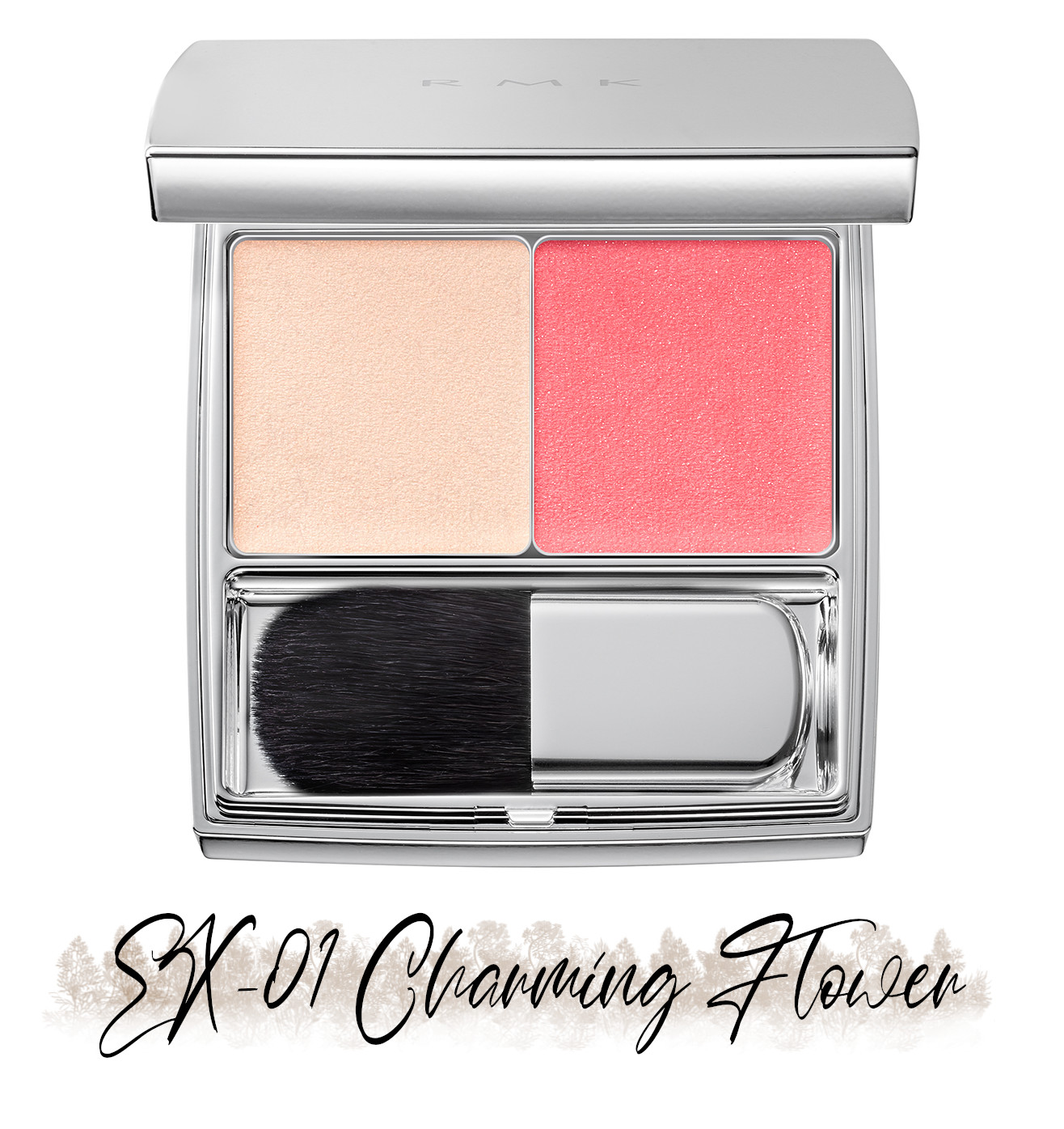 RMK Blooming in the City Spring-Summer 2021 Collection The Beige Library Blush Duo EX-01 Charming Flower