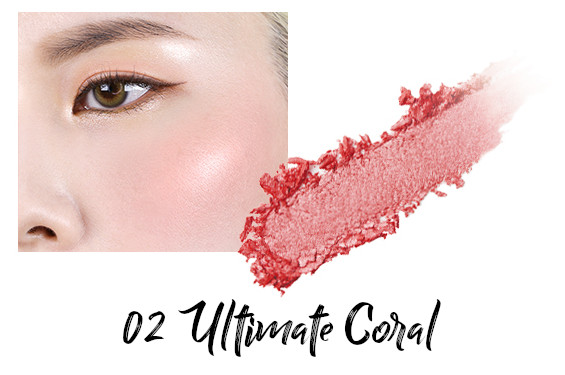 VDL + PANTONE 2021 Collection Strength & Hopefulness in Color Expert Color Cheeck Lighter 02 Ultimate Coral