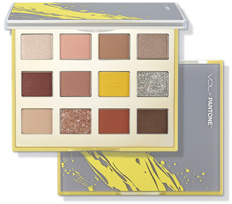 VDL + PANTONE 2021 Collection Strength & Hopefulness in Color Expert Color Eyeshadow Palette Illuminating & Ultimate Grey