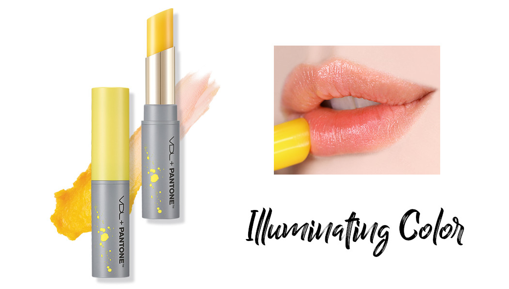 VDL + PANTONE 2021 Collection Strength & Hopefulness in Color Expert Illuminating Color Lip Balm