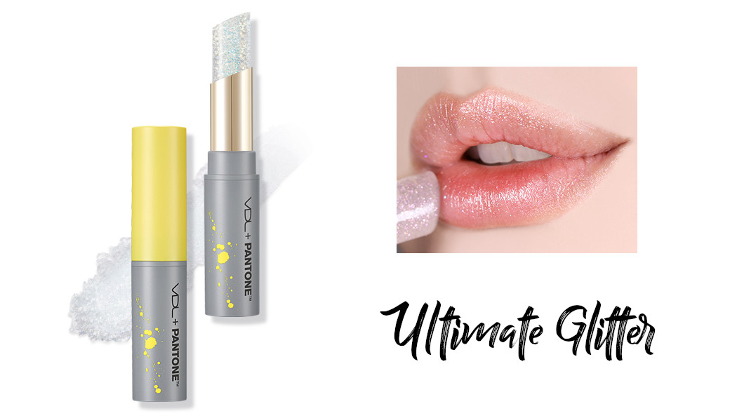 VDL + PANTONE 2021 Collection Strength & Hopefulness in Color Expert Ultimate Glitter Lip Balm