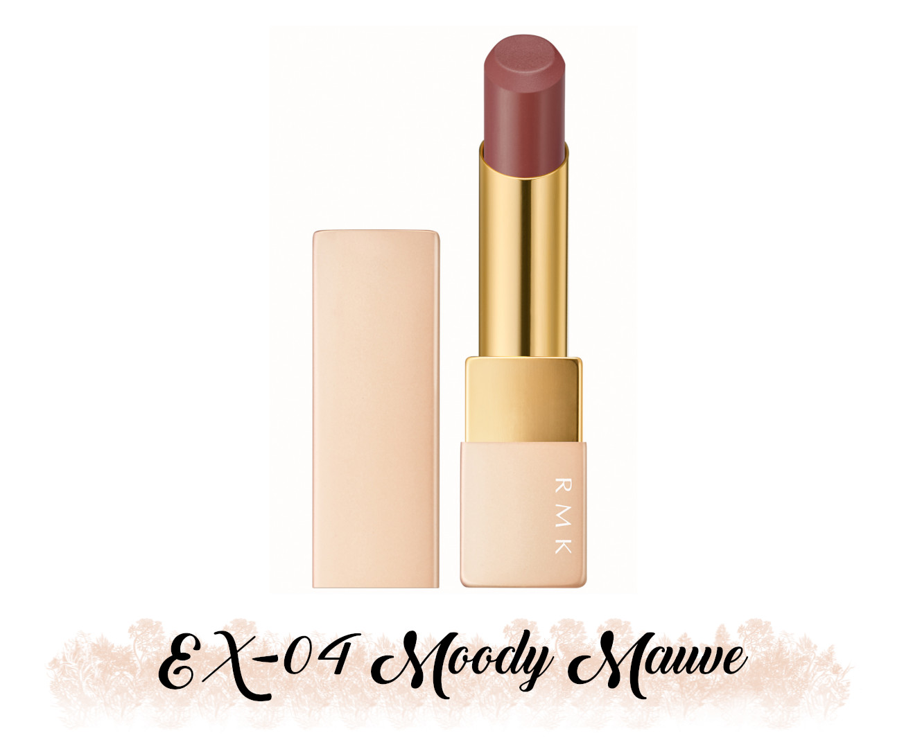 RMK Fall 2021 Collection Rosewood Daydream Lipstick Comfort Airy Shine EX-04 Moody Mauve