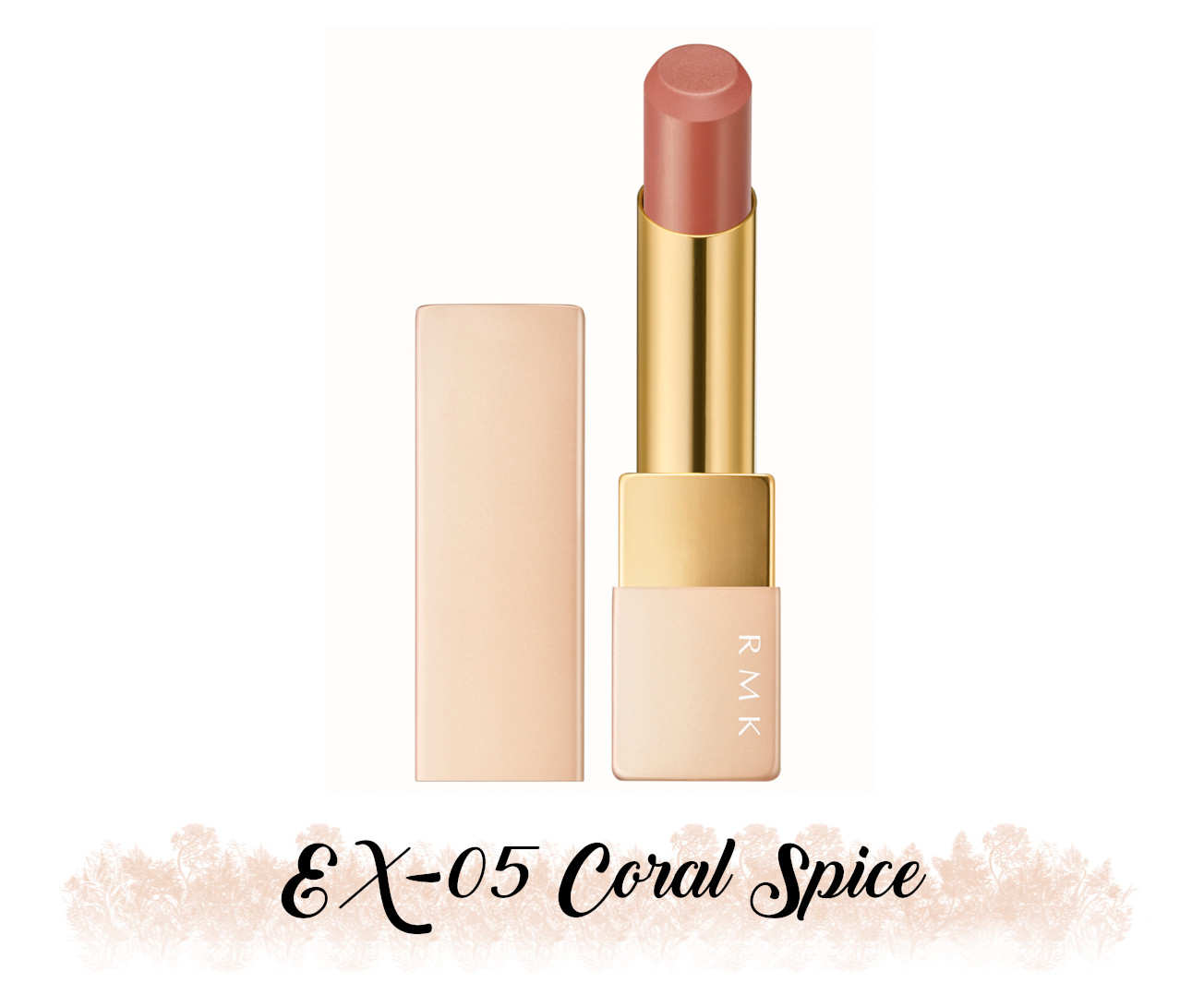 RMK Fall 2021 Collection Rosewood Daydream Lipstick Comfort Airy Shine EX-05 Coral Spice