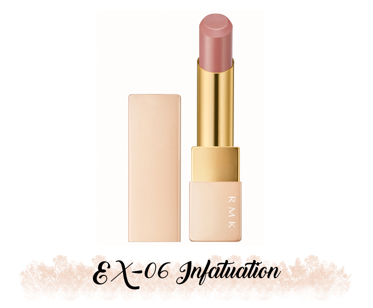 RMK Fall 2021 Collection Rosewood Daydream Lipstick Comfort Airy Shine EX-06 Infatuation