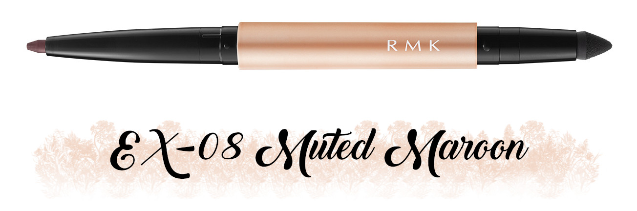 RMK Fall 2021 Collection Rosewood Daydream Soft Fine Eye Pencil EX-08 Muted Maroon