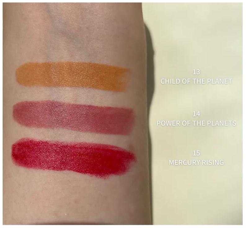 THREE Space Sonic 2021 Autumn Makeup Collection Daringly Distinct Lipstick swatche