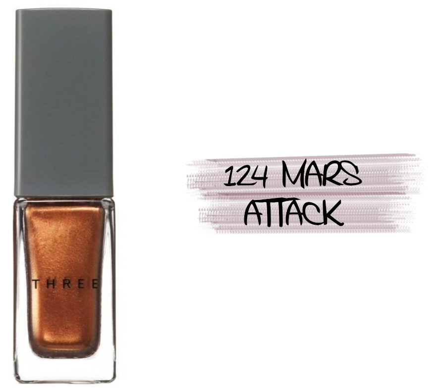 THREE Space Sonic 2021 Autumn Makeup Collection Nail Polish 124 Mars Attack